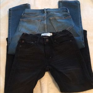 2 abercrombie skinny jeans